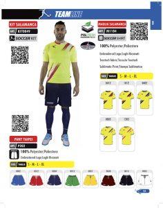 Echipament de fotbal/antrenament kit SALAMANCA
